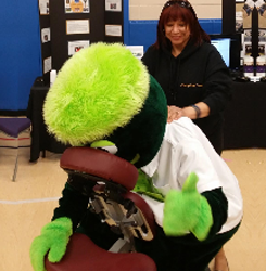 Chair Massage for a Mascot