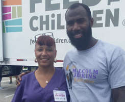 Malcolm Jenkins With Crystal Collazo